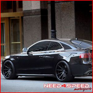 "20"" Hyundai Genesis Coupe Rohana RC10 Matte Black Concave Staggered Wheels Rims"
