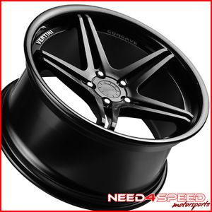 "19"" Audi B8 A4 S4 Vertini Monaco Matte Black Concave Staggered Wheels Rims"