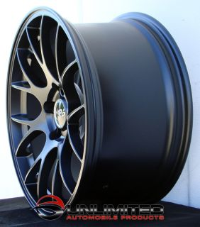 "18"" Miro 112 Matte Black Wheels Rims Fit Audi A8 D2 D3 D4 A5 B8"