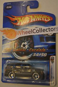'07 Cadillac Escalade Black Silver Rims 2006 Hot Wheels First Edition 34 38