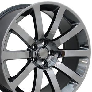 "20"" Black Chrome CL 300 SRT Wheels 20x9 Set of 4 Rims Fits Chrysler"