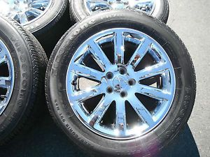 "18"" Chrysler 300 Factory Chrome Clad Wheels Set 4 Tires Caps 300C Alloys 4"