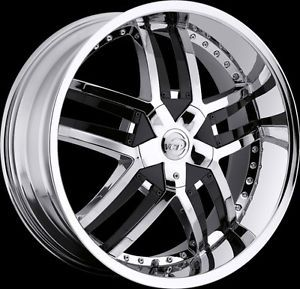 "20"" 22"" 24"" VCT Lombardi Chrome Black Wheels Chrysler Dodge Donks Rims"