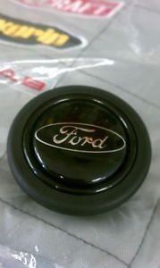 "Saleen Mustang Momo Steering Wheel ""Ford"" Horn Button 86 89"