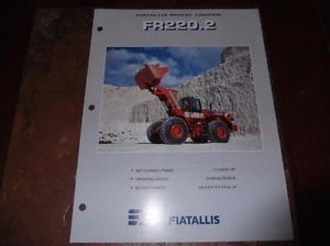 Fiat Allis FR220 2 Wheel Loader Sales Brochure Fr 220 2 Loader