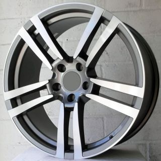 "22"" Audi Q7 2006 2009 Gunmetal Polish Alloy Wheels 5x130"