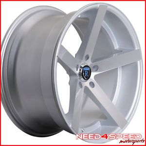 "20"" Nissan Maxima Rohana RC22 Deep Concave Silver Staggered Wheels Rims"