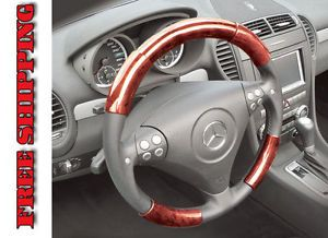 Mazda Miata 99 00 Red Wood Pattern Steering Wheel Cover Parts TUR204