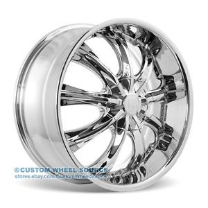 "17"" Redsport RSW33 Chrome Rims for Dodge Fiat Ford Honda Wheels"