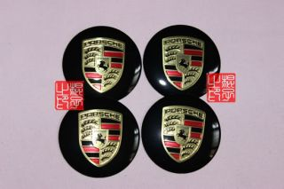 4pcs Porsche Car Wheel Center Cap Decal Stickers Emblem Badge Diameter 55mm