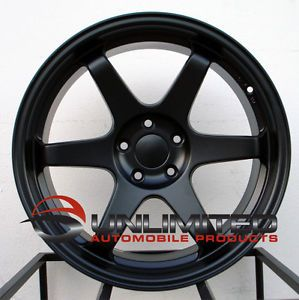 "18"" Varrstoen ES2 Staggered Matte Black Wheels Rims Fit Hyundai Genesis Coupe"