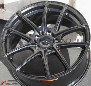 18x8 Inovit 985 5x114 3 Black Wheel Fit Hyundai Tucson Veloster Turbo Sonata Rim