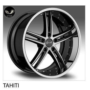 20 Gianelle Tahiti Jaguar XK XF Mercedes CL550 S550 Lexus LS460 Wheels Tires