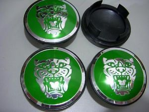 4 Pieces Jaguar Wheel Badge Set Center Cap Wheel Motif 1988 2012 Green