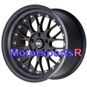 18 XXR 521 Flat Black Rims Wheels Staggered 5x114 3 03 07 Infiniti G35 Coupe S