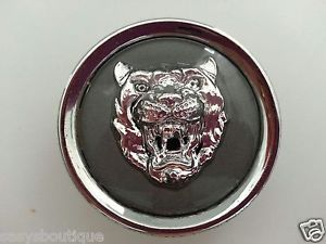 Jaguar XJ6 Wheel Rim Center Hubcap Emblem Chrome Grey Gray Logo