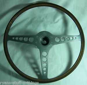 Vintage Jaguar 1960's XK E Type Original Wood Steering Wheel Was on 1963 Jaguar