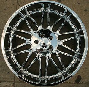 Menzari Noire Z10 22 x 9 5 Chrome Rims Wheels Infiniti FX35 FX45 03 Up 5H 35