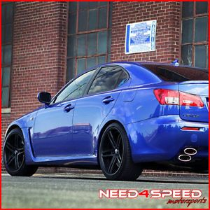 "20"" Lexus isf Rohana RC5 Matte Black Concave Staggered Wheels Rims"