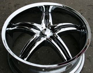 "Viscera 770 22"" Chrome Rims Wheels Nissan Maxima Altima 5 x 114 3"