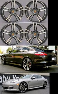 "22"" Stuttgart Wheels Set for Porsche Panamera and Cayenne Rims 22x10 22x11"
