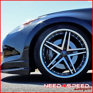 "New 20"" Nissan 350Z Rohana RC5 Machined Deep Concave Staggered Wheels Rims"