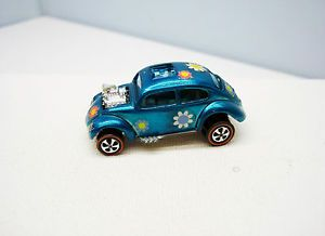 Hot Wheels Custom VW Aqua Awesome Vintage Volkswagen Bug Redline
