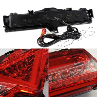 Scion Fr s Subaru BRZ Clear Red Lens Chrome Housing Rear Bumper LED Brake Lamps