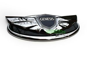 Hyundai Genesis Coupe Chrome Emblem Grill Trunk Badge Genuine Parts 2013