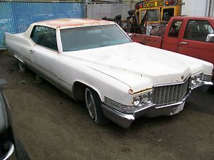 1970 Cadillac Coupe DeVille Parts Fix Demo Derby