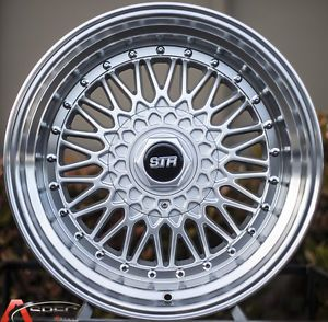 18x8 9 Str 606 RS Style 5x112 Silver Wheel Fit VW CC EOS Jetta Golf GTI TDI Rim