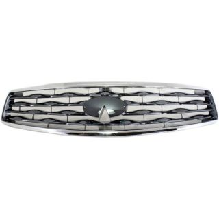 New Grille Assembly Chrome Shell Light Gray Insert Infiniti FX35 620701CA0A