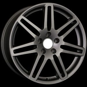 "18"" RS4 Wheels Rims Matte Gunmetal Fit VW Passat B5 B5 5"
