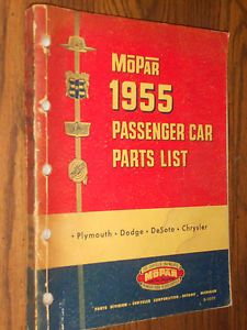 1955 Dodge Chrysler Plymouth DeSoto Parts Catalog Original Book