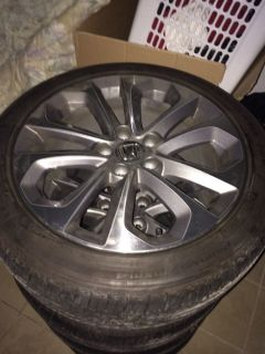 "2014 Honda Accord 18"" Rims and Michellin Tires"
