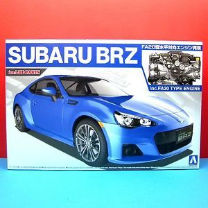Aoshima 1 24 Subaru BRZ with FA20 Type Engine Model Kit Inc LHD Parts 007617