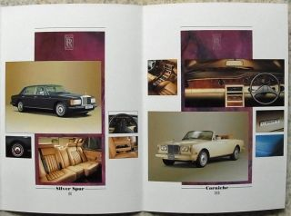 Rolls Royce Bentley Sales Brochure 1989 Silver Spur Mulsanne Corniche Turbo R