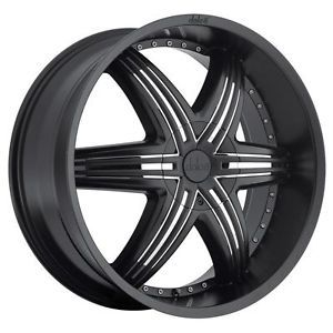22 inch 22x9 5 Dolce DC48 Black Wheels Rims 5x120 20 Land Rover Range Rover