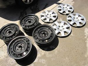 "06 07 08 Honda Civic Factory Steel Wheels Rims 16"" Hub Caps Set of 4"