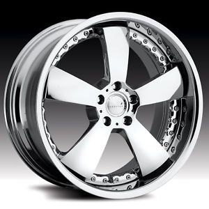 "4 22"" Stag Maas 2 Piece Modular Wheels 550C Chrome Rims 5x112 Mercedes Benz VW"