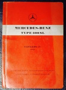 Mercedes Benz Type 300SL Spare Parts Catalogue 1956 Gullwing
