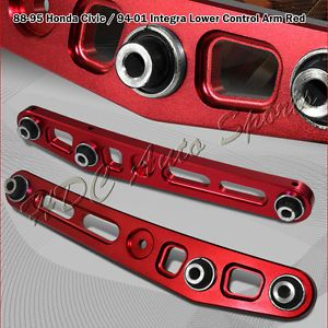 Acura Integra Honda Civic CRX Red Suspension Aluminum Rear Lower Control Arm
