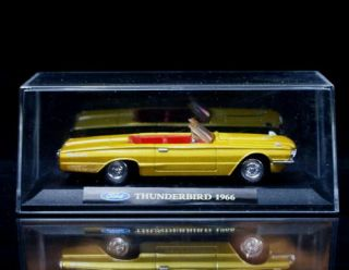 1966 Ford Thunderbird Convertible New Ray Diecast 1 43 Scale Gold