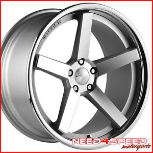 "19"" Mercedes Benz C63 Stance SC 5IVE Silver Concave Staggered Wheels Rims"