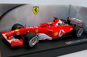 1 18 Hot Wheels Racing Ferrari F2003 GA Michael Schumacher 1 Marlboro RARE