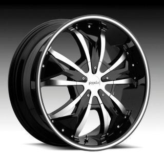18 inch Pinnacle P 72 Gunner Black w Inserts Wheels Rims 5x4 25 Volvo XC60 XC70