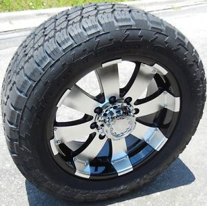 Details about 20 BLACK ULTRA WHEELS RIMS NITTO TERRA TIRE CHEVY