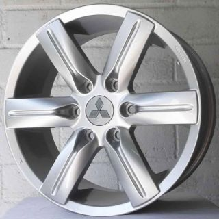 "18"" Genuine Mitsubishi Fits Shogun Pajero 07 on Silver Alloy Wheels 6x139"