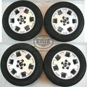 4 Volvo 15x6 5 Terra Alloy Rims Wheels Snow Tires Caps 850 S60 V70 S70 S80