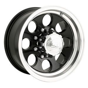 16 ion 171 Black Wheels Rims 8x6 5 8 Lug Chevy Dodge